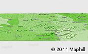 Political Panoramic Map of Salgueiro