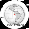 Outline Map of Trujillo, rectangular outline