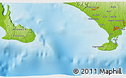 """Physical 3D Map of the area around 8°44'0""""S,114°49'29""""E"""