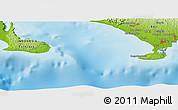 Physical Panoramic Map of Bualu