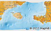 """Political 3D Map of the area around 8°44'0""""S,115°40'30""""E"""