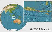 "Satellite Location Map of the area around 8°44'0""S,115°40'30""E"