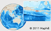 """Shaded Relief Location Map of the area around 8°44'0""""S,115°40'30""""E"""