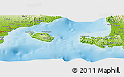 """Physical Panoramic Map of the area around 8°44'0""""S,115°40'30""""E"""