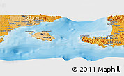 """Political Panoramic Map of the area around 8°44'0""""S,115°40'30""""E"""