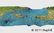 "Satellite Panoramic Map of the area around 8°44'0""S,115°40'30""E"