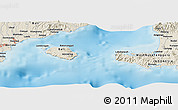 """Shaded Relief Panoramic Map of the area around 8°44'0""""S,115°40'30""""E"""