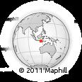 Outline Map of Lombok, rectangular outline