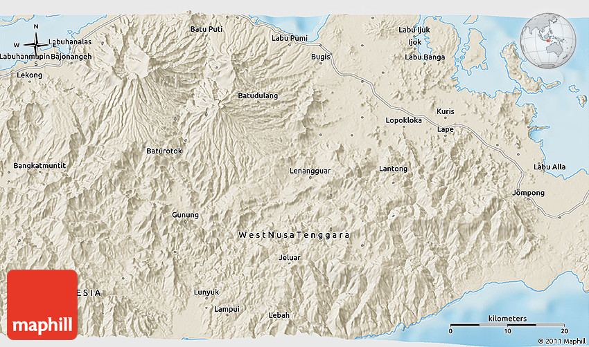 Shaded Relief 3D Map of Mur