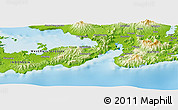 """Physical Panoramic Map of the area around 8°44'0""""S,118°13'29""""E"""