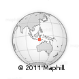Outline Map of Lesser Sunda Islands, rectangular outline