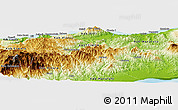 Physical Panoramic Map of Dili