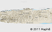 Shaded Relief Panoramic Map of Dili