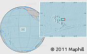 """Gray Location Map of the area around 8°44'0""""S,138°28'29""""W, hill shading"""