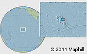 """Savanna Style Location Map of the area around 8°44'0""""S,139°19'29""""W, hill shading"""
