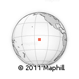 """Outline Map of the Area around 8° 44' 0"""" S, 139° 19' 29"""" W, rectangular outline"""