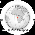 Outline Map of Luanda, rectangular outline