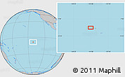 """Gray Location Map of the area around 8°44'0""""S,141°1'30""""W"""