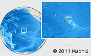 """Shaded Relief Location Map of the area around 8°44'0""""S,141°1'30""""W"""