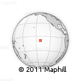 """Outline Map of the Area around 8° 44' 0"""" S, 141° 1' 30"""" W, rectangular outline"""