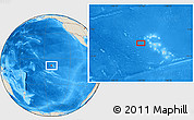 "Shaded Relief Location Map of the area around 8° 44' 0"" S, 141° 52' 30"" W"