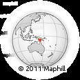 Outline Map of Uparua, rectangular outline