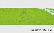 "Physical Panoramic Map of the area around 8° 44' 0"" S, 142° 52' 30"" E"