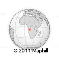 Outline Map of Pango Aluquemi, rectangular outline