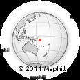 Outline Map of Marovo Island, rectangular outline