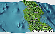 """Satellite 3D Map of the area around 8°44'0""""S,160°43'29""""E"""