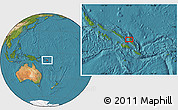 "Satellite Location Map of the area around 8°44'0""S,160°43'29""E"