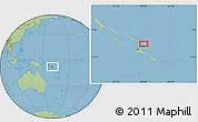 "Savanna Style Location Map of the area around 8°44'0""S,160°43'29""E"