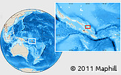 """Shaded Relief Location Map of the area around 8°44'0""""S,160°43'29""""E"""
