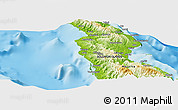 """Physical Panoramic Map of the area around 8°44'0""""S,160°43'29""""E"""