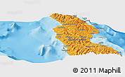 """Political Panoramic Map of the area around 8°44'0""""S,160°43'29""""E"""