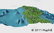 "Satellite Panoramic Map of the area around 8° 44' 0"" S, 160° 43' 29"" E"