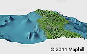 "Satellite Panoramic Map of the area around 8°44'0""S,160°43'29""E"