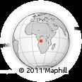 "Outline Map of the Area around 8° 44' 0"" S, 18° 46' 29"" E, rectangular outline"