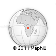 Outline Map of Buambua, rectangular outline