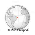 """Outline Map of the Area around 8° 44' 0"""" S, 33° 55' 29"""" W, rectangular outline"""