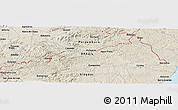 Shaded Relief Panoramic Map of Barreiros