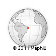 """Outline Map of the Area around 8° 44' 0"""" S, 36° 28' 30"""" W, rectangular outline"""