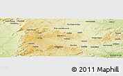 Physical Panoramic Map of Campo Majé
