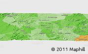 Political Panoramic Map of Campo Majé