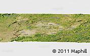 Satellite Panoramic Map of Campo Majé