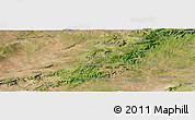 Satellite Panoramic Map of Buíque