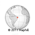Outline Map of Caldeirão, rectangular outline
