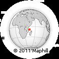 "Outline Map of the Area around 8° 44' 0"" S, 43° 25' 29"" E, rectangular outline"