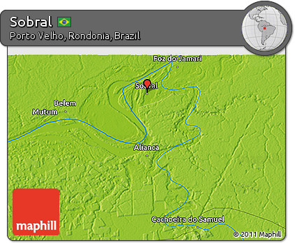 Free Physical D Map Of Sobral - Sobral map