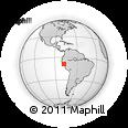 Outline Map of Huaylas, rectangular outline